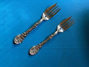 """47g 6 1//2/"""" No Mono Gorham Versailles Sterling Silver Gold Wash Salad Fork"""