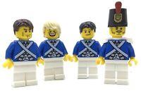 LEGO LOT OF 4 BLUECOAT SOLDIER MINIFIGURES UNION FIGURES