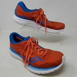 Saucony Mens Kinvara 10 S20467-36 Orange Running Shoes Lace Up Low Top SIZE 10