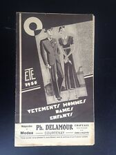 ancien catalogue Mode 1933 Delamour Courtenay TBE