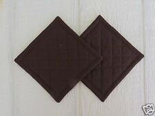 Chocolate Dark Brown Quilted Coaster, Trivet,Pot Holders,Hot Pad - Set of 2