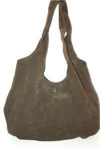 Cesaire Paris Bag Hobo Crust Leather Flexible Bohemian Brown Very Good Condition