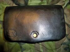Civil War Union Black Leather Pistol Cartridge Box marked R. White Us Ord Dept