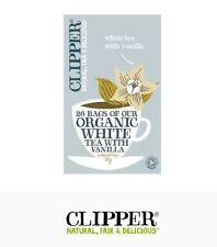 3 x 26 tea bags CLIPPER TEAS Organic White Tea with Vanilla ( 78 tbags)
