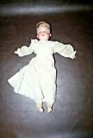 Armand Marseille DRGM 20101 A 2/0 M Bisque Head Brown Eyed Doll - Poor Condition