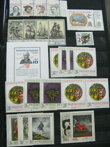 Czechoslovakia Stamps Mint NH Sets And Souvenir Sheets