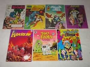 UNDERGROUND COMIC LOT!!! WIMMIN'S COMIX POWER COMICS TWO FOOLS MORE