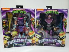 NECA TMNT TURTLES IN TIME SHREDDER AND FOOT SOLDIER