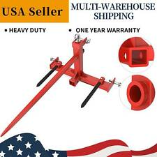3 Point Hay Bale Spear Stacker Attachment Cat 1 Tractor Gooseneck Trailer Hitch