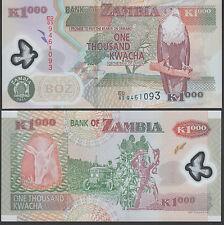 Zambia 1000 Kwacha 2009 P44 Mint Unc Polymer note
