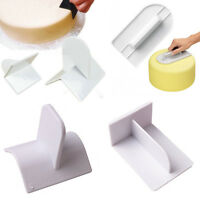 Icing Fondant Edge Top Smoother Paddle Cake Sugarcraft Polisher Finisher Tool