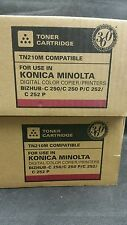2 X Magenta Toner Compatible Para Konica Minolta Bizhub C250 C252 TN210M 8938511