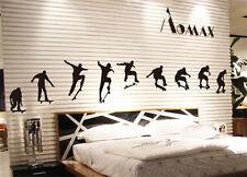 Skate Skateboard Skater Boy abnehmbareDIY Wandtattoo-Dekoration Zimmer Aufkleber