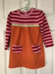 Gymboree Girls Size 3T Cotton/Acrylic Knit Long Sleeved Dress