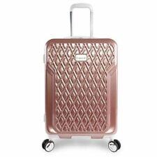 "BEBE Women's Stella 21"" Hardside Carry-on Spinner Luggage Rose Gold NEW"