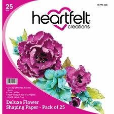 """Heartfelt Creations Flower Shaping Paper WHITE 12""""X12"""" 25/Pkg, HCPP1468 ~ NIP"""