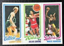 1980 Topps Larry Bird / Magic Johnson / Julius Erving Rookie Reprint - Mint