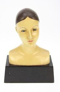 Büste Figur ✿ Frauen Büste ✿ Briefbeschwerer Objekt Doll Head Bust VTG Buste