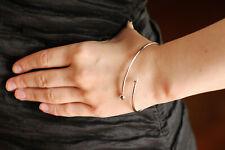 twist bracelet Silver strech bangle arrows botkier new york open cuff dagger