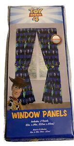 "Disney Pixar Toy Story 4 Window Panels Microfiber Curtains 48"" x 84"" New"