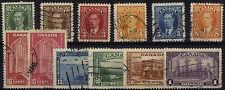 Handstamped Multiple North American Stamps