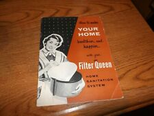 VINTAGE HEALTH-MOR FILTER QUEEN VACUUM CLEANER OWNERS INSTRUCTION MANUAL