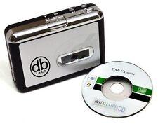 DB Tech Audio USB Portable Cassette Tape-to-MP3 Convert & Player - Auto Reverse