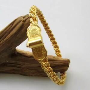 Sonderaktion Gold Armreif aus 916 / 22 KT Gelbgold Armband gedreht massiv