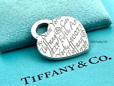 Tiffany & Co. Sterling Silver Script Notes 1 in. Charm Pendant w/ Pouch 2086C