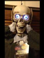 Life Size ANIMATED SEVERED HEAD TALKING SKELETON SKULL Halloween Prop Decoration