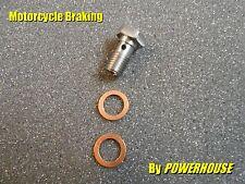 1x Stainless steel M10 x 1.25 mm Banjo Bolt Honda Kawasaki Suzuki Yamaha BMW