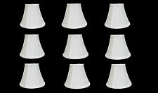 """Urbanest Chandelier Lamp Shades, Set of 9, Soft Bell 3""""x 6""""x 5"""" White"""