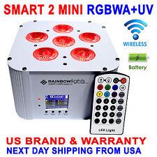 LED  6x18W RGBWA+UV Battery Powered WIRELESS DMX Par Can DJ Uplighting Up Light