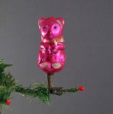 Alter Christbaumschmuck - Bär auf Zwicker   (# 7581)