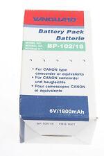 Vanguard BP-102/18 NiCD Videoakku 6 Volt/1800mAH für Canon NEU!