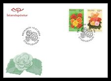 Iceland 2004 FDC, Summer Flowers, Marigold and Begonia, Lot # 3.