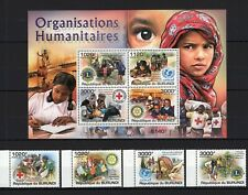 BURUNDI 2011 ORGANIZ HUMANITAIRES SCOUTS LIONS ROTARY UNICEF RED CROSS MNH