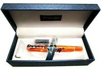 Montegrappa Miya Limited Edition Celluloid Fountain Pen Orange NEW IN BOX