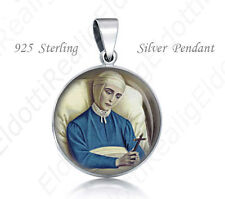Bl Anne Catherine Emmerich Sterling Silver Pendant. Catholic 925 Silver Medal