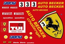 #3 AUTO BECKER Ferrari 1/64th HO Scale Slot Car Decals