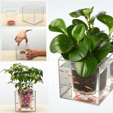 Creative Aquarium Self-watering Pot Planter Plant Vase Pet Fish Tank Home Decor