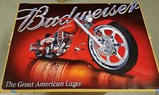 Brand New 3 lot Budweiser Beer Red Harley Sturgis Chopper Motorcycle Posters