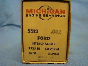 1941 1942 1946 1947 Ford 226 Rod Bearing Set 002 Super Deluxe Six USA Made