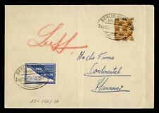 DR WHO GERMANY OVPT BELRIN-HANNOVER BANHPOST AIRMAIL TO HANNOVER  g42737