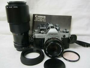 Canon AE-1 SLR Film Camera, Canon FD 50mm 1:1.8 & 70-210mm 1: 4 Lenses +