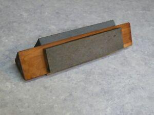 Vintage 6 inch Tri Hone Coarse Med Fine Whetstone Sharpening V Block Only