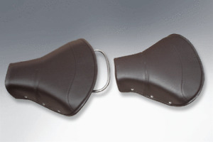 LAMBRETTA SADDLE SEATS IN BLACK SINGLE SEAT SET FREE UPS DELIVERY