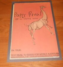 Paper Rival Poster Original Tour Promo 17x11 Rare