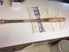 Brian Hunter Jr. Signed Game Used Bat + Batting Glove 90's Detroit Tigers MLB