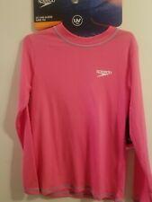 Youth Pink Speedo UV Long Sleeve Swim Rash Guard UV 50+